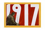 Soviet Propaganda Poster, 1917 Giclée-tryk