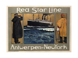 Red Star Line, 1908 Giclee Print by Henri Cassiers