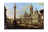 The Piazza and Church of Santa Maria Maggiore in Rome, 1739 Reproduction procédé giclée par Bernardo Bellotto
