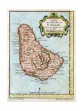 Map of Barbados, C1758 Giclée-vedos