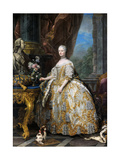 Portrait of Marie Leszczynska, Queen of France (1703-176) Giclee Print by Carle van Loo