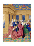 Étienne Chevalier with Saint Stephen, Ca 1455 Giclee Print by Jean Fouquet