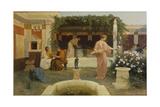 Ancient Courtyard, 1896 Lámina giclée por Stepan Vladislavovich Bakalowicz