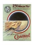 Poster Advertising Castrol Motor Oil Giclée-tryk