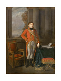 Napoleon Bonaparte as First Consul before a View of Antwerp Giclee Print by Jean-Baptiste Greuze