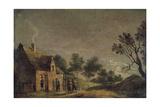 A Tavern at Night, 17th Century Giclée-Druck von David Teniers the Younger