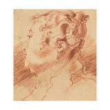 Study of Woman's Head, C. 1725 Giclee Print by Jean Antoine Watteau