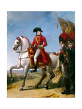 Napoleon Bonaparte, First Consul, Reviewing His Troops after the Battle of Marengo Giclee Print by Antoine-Jean Gros