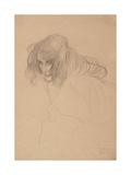 Study of a Woman's Head in Three-Quarter Profile, C.1901-1902 Giclée-Druck von Gustav Klimt