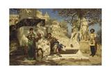 The Patrician's Siesta, 1881 Giclée-tryk af Henryk Siemiradzki