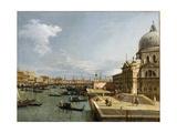 The Entrance to the Grand Canal and the Church Santa Maria Della Salute, Venice Impressão giclée por  Canaletto