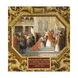 Charlemagne Crowns His Son Louis the Pious in 813 Reproduction procédé giclée par Jean Alaux