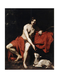 Saint John the Baptist in the Wilderness, C1615-C1620 Giclee Print by Nicolas Regnier