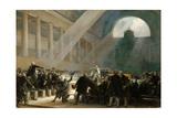 Mirabeau Answering Dreux-Brézé, at the National Assembly Meeting, June 23, 1789 Giclée-tryk af Alexandre-Évariste Fragonard
