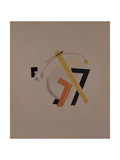 Old Resident. Figurine for the Opera Victory over the Sun by A. Kruchenykh, 1920-1921 Giclee-trykk av El Lissitzky