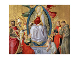 The Assumption of the Blessed Virgin Mary, 1464-1465 Giclée-tryk af Neri Di Bicci