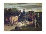 The Peasants of Flagey Returning from the Fair Reproduction procédé giclée par Gustave Courbet