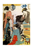 Women of the Gay Quarters, Late 18th or Early 19th Century Giclee Print by Torii Kiyonaga