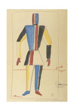 Futurist Strongman, Costume Design for the Opera Victory over the Sun after A. Kruchenykh Impressão giclée por Kasimir Severinovich Malevich