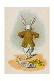 The Rabbit Running Away, 1930 Lámina giclée por Tenniel, John