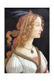 Idealized Portrait of a Lady (Portrait of Simonetta Vespucc), C. 1480 Giclée-Druck von Sandro Botticelli