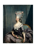 Portrait of Marie Louise of Savoy (1749-179), Princess of Lamballe Giclée-tryk af Antoine-François Callet