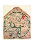 The Hereford Mappa Mundi, (C128), 1912 Giclee-trykk av Richard de Bello