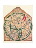 The Hereford Mappa Mundi, (C128), 1912 Giclée-vedos tekijänä Richard de Bello