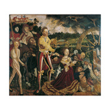 Altarpiece with the Martyrdom of Saint Catharine, Central Panel Giclee Print by Lucas Cranach the Elder