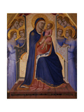 Madonna and Child Enthroned with Angels, 1340 Giclée-tryk af Pietro Lorenzetti