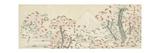 The Mount Fuji with Cherry Trees in Bloom Giclee-trykk av Katsushika Hokusai