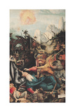 The Isenheim Altarpiece, Right Wing: the Temptation of Saint Anthony Giclée-tryk af Matthias Grünewald