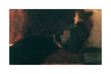 Lady at the Fireplace Giclée-Druck von Gustav Klimt