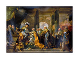 Louis XVI Received at Reims the Homage of the Knights of the Holy Spirit, 13 June 1775 Giclée-tryk af Gabriel François Doyen