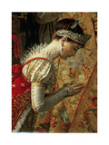 Empress Joséphine (The Coronation of Napoleon, Detai) Giclée-tryk af Jacques Louis David