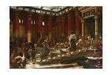 The Visit of the Queen of Sheba to King Solomon, 1890 Gicléedruk van Edward John Poynter