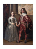 William II, Prince of Orange, and His Bride, Mary Henrietta Stuart, First Third of 17th C Giclée-Druck von Sir Anthony Van Dyck