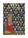 Robert of Anjou (From Regia Carmina by Convenevole Da Prat) Giclee Print by Pacino Di Buonaguida