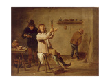 The Smokers Giclée-Druck von David Teniers the Younger