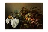 Still Life with Fruit and Roemer Reproduction procédé giclée par Pieter Claesz