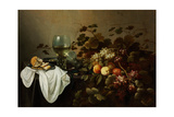 Still Life with Fruit and Roemer Lámina giclée por Pieter Claesz