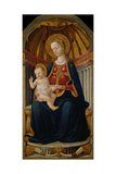 The Virgin and Child Enthroned Giclée-tryk af Neri Di Bicci