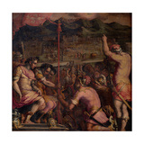 Foundation of Florentia, a Roman Settlement, 1563-1565 Giclée-Druck von Giorgio Vasari