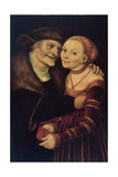 The Unequal Couple Giclee Print by Lucas Cranach the Elder