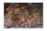The Fall of the Giants (Sala Dei Gigant) Giclée-tryk af Romano, Giulio