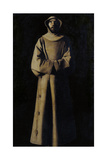 Saint Francis of Assisi after the Vision of Pope Nicholas V Lámina giclée por Francisco de Zurbarán