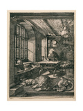Saint Jerome in His Cell Reproduction procédé giclée par Albrecht Dürer