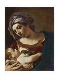 Madonna y el niño Lámina giclée por  Guercino