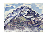 The Jungfrau, as Seen from Muerren Gicléetryck av Ferdinand Hodler