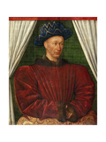 Portrait of the King Charles VII of France, 1445-1450 Giclee Print by Jean Fouquet